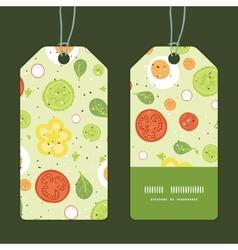 fresh salad vertical stripe frame pattern tags set vector image
