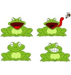 Funny frog cartoon vector image