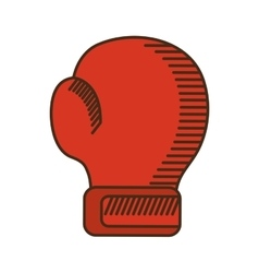Glove boxing equipment isolated icon vector