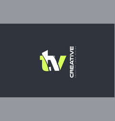 Green letter tv t v combination logo icon company vector