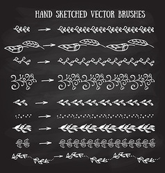 hand sketched brushes vector image