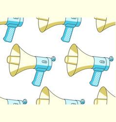 Handheld megaphone pattern vector