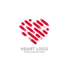 Heart logo line icons for your design vector