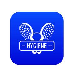 Hygiene shower icon blue vector