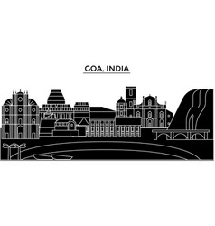 India goa architecture urban skyline with vector
