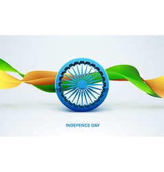 Indian Independence 3d sign isolated on white vector image