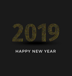 inscription 2019 isolated on black background vector image