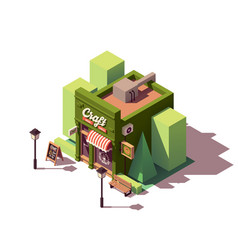 isometric craft beer bar vector image