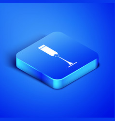 Isometric jewish goblet icon isolated on blue vector