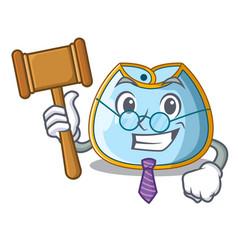 Judge baby bib isolated on the mascot vector