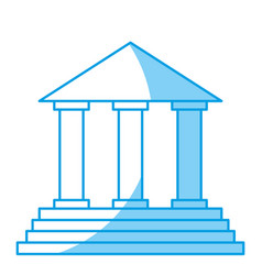 law court building icon vector image