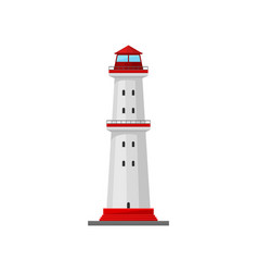 Lighthouse with a platform in middle vector