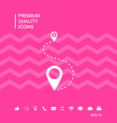 Location symbol icon vector