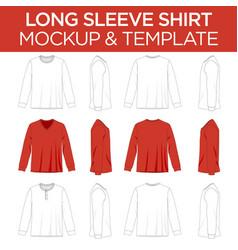 Long sleeve t-shirt - template mockup vector