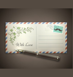 love letter envelope vector image