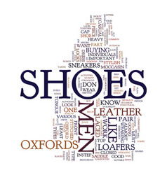 mens shoes text background word cloud concept vector image