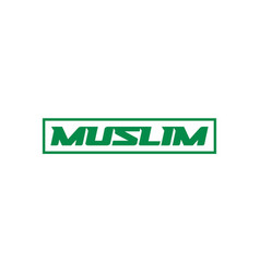 muslim roadsign template on white vector image