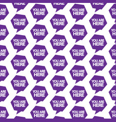 Pattern background you are here icon vector