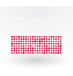 poland flag made up of dots vector image
