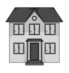 Private cottagerealtor single icon in monochrome vector
