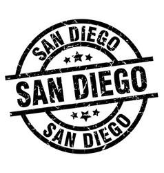 san diego black round grunge stamp vector image