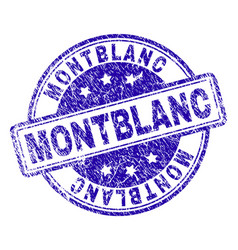scratched textured montblanc stamp seal vector image
