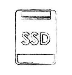 Sd memory isolated icon vector
