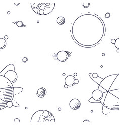 Seamless space background with unknown planets vector