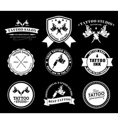 Set tattoo logos of different styles vector