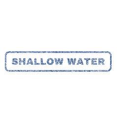 shallow water textile stamp vector image
