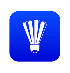 Shuttlecock icon digital blue vector