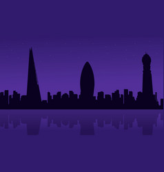 silhouette of london city building scenery vector image