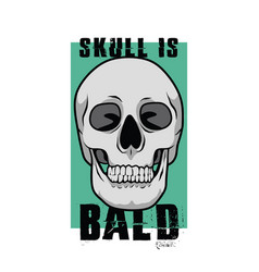 Skull is bald for poster or graphic your goods vector