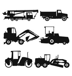 Special machinery set construction equipment vector
