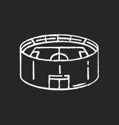 stadium chalk white icon on black background vector image