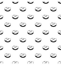 Steak meat pattern simple style vector image