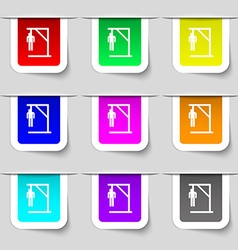 Suicide concept icon sign Set of multicolored vector