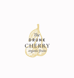 the drunk cherry abstract sign symbol or vector image