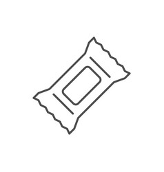 Tissue package line outline icon vector