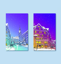 trendy cover template hamburg town hall germany vector image