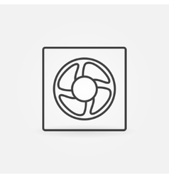 Ventilation line icon vector