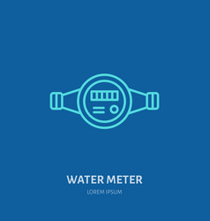 Water meter plumber equipment vector