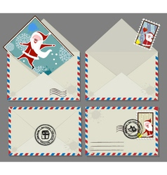 xmas letters vector image vector image