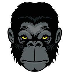 Ape head mascot vector image vector image