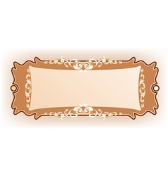 Luxury vintage frame template vector image