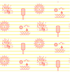 summer beach line striped icon seamless vector image vector image