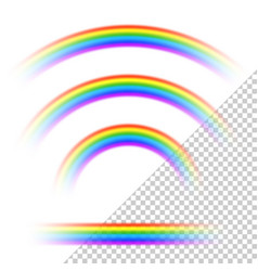 transparent rainbows collection vector image vector image