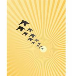 burst birds vector image vector image
