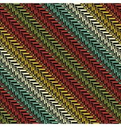 colorful ornate herringbone vector image vector image
