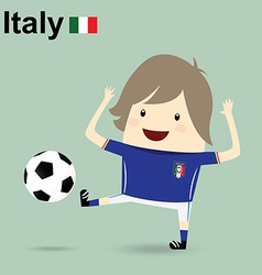 italy national football team businessman happy is vector image